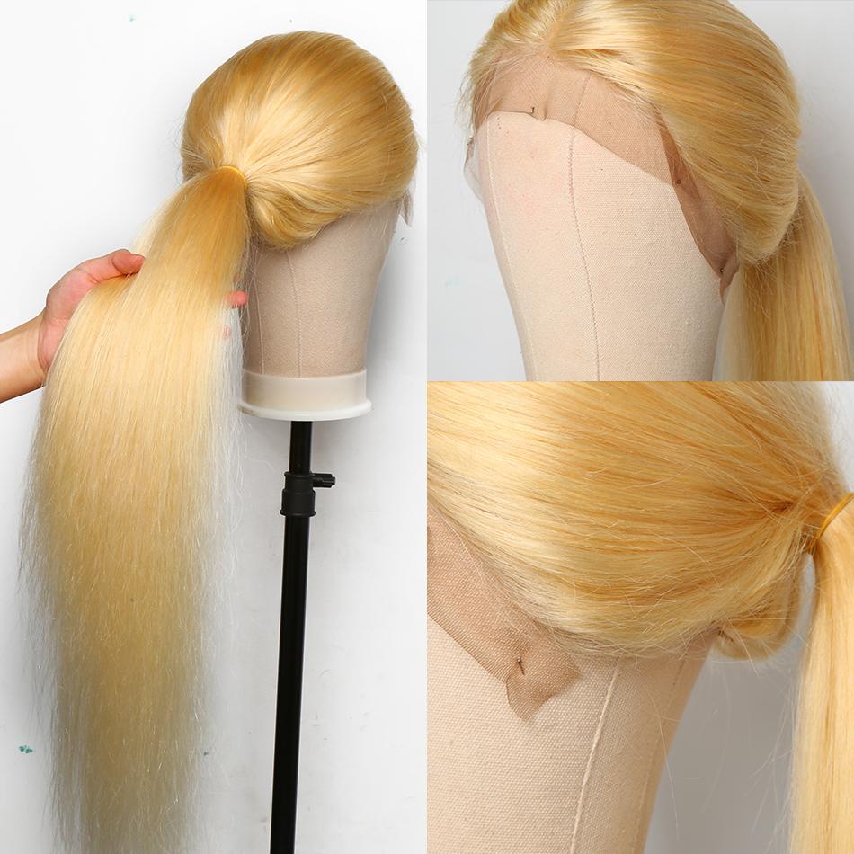2021 شقراء 13x4 مستقيم 613 الدانتيل الجبهة الشعر الإنسان الباروكات الشعر البرازيلي preplucked للنساء السود 150 درجة مملحة غلويليس