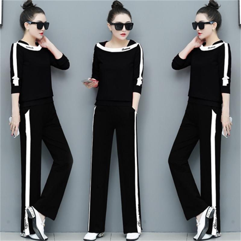 Rahat iki set pantolon, bol pantolon, bacak topluluk, kadın topluluk, kadınsı femme 5md1