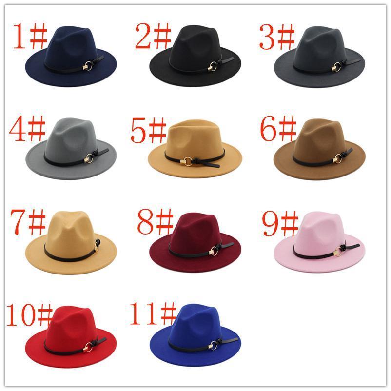 أعلى ترتيب مختلط الرجال فيدورا قبعة لشخص الصوف واسعة بريم جاز الكنيسة كاب الفرقة واسعة شقة بريم الجاز القبعات أنيقة تريلبي بنما قبعات
