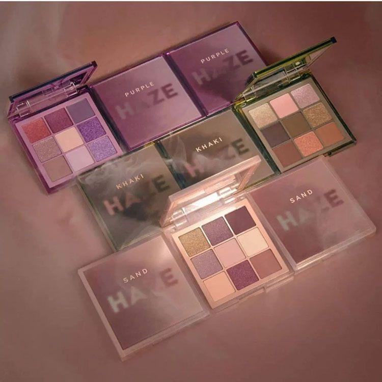 HAZE purple sand khaki 9color eyeshadow palette Shimmer Matte high quality