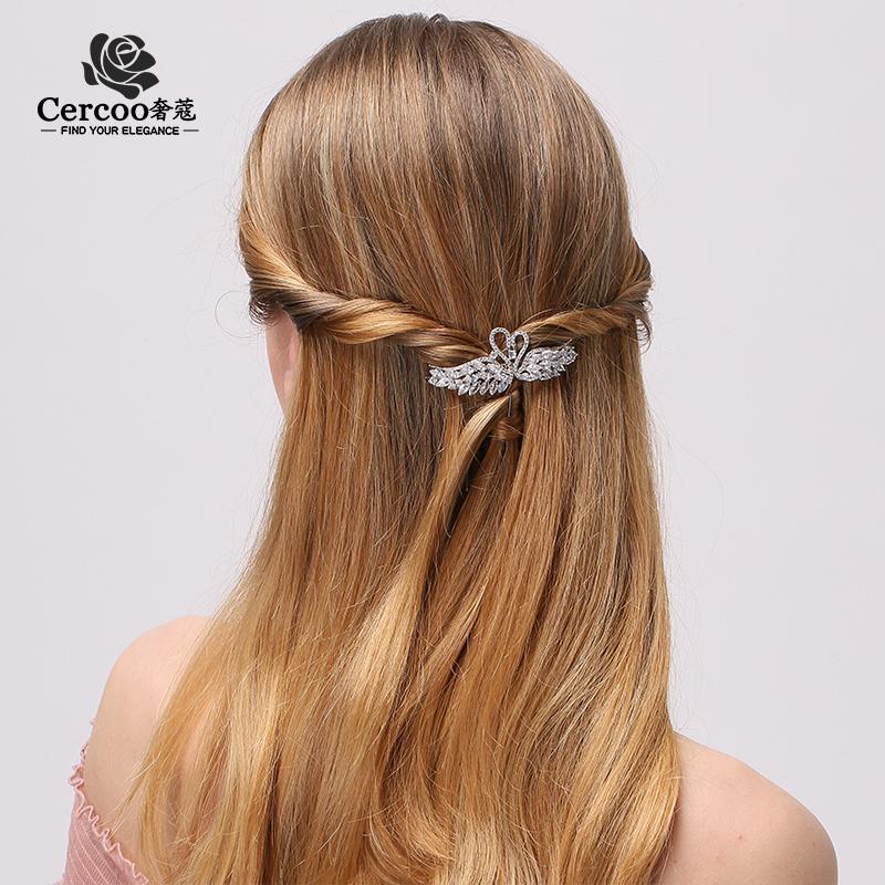TMtop Cercoo / Shekou Kopfschmuck Kristallschwan-Hairpin Wasser Bohrkante Mädchen Diamant Clip m