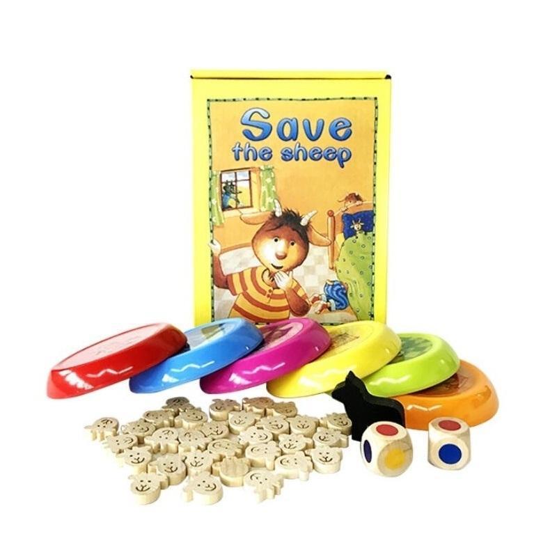 Fly CA Lobo e Cordeiros Desktop Jogo Memória Correspondência Jogo Educacional Puzzle Brinquedos Família Festa Jogos T200413