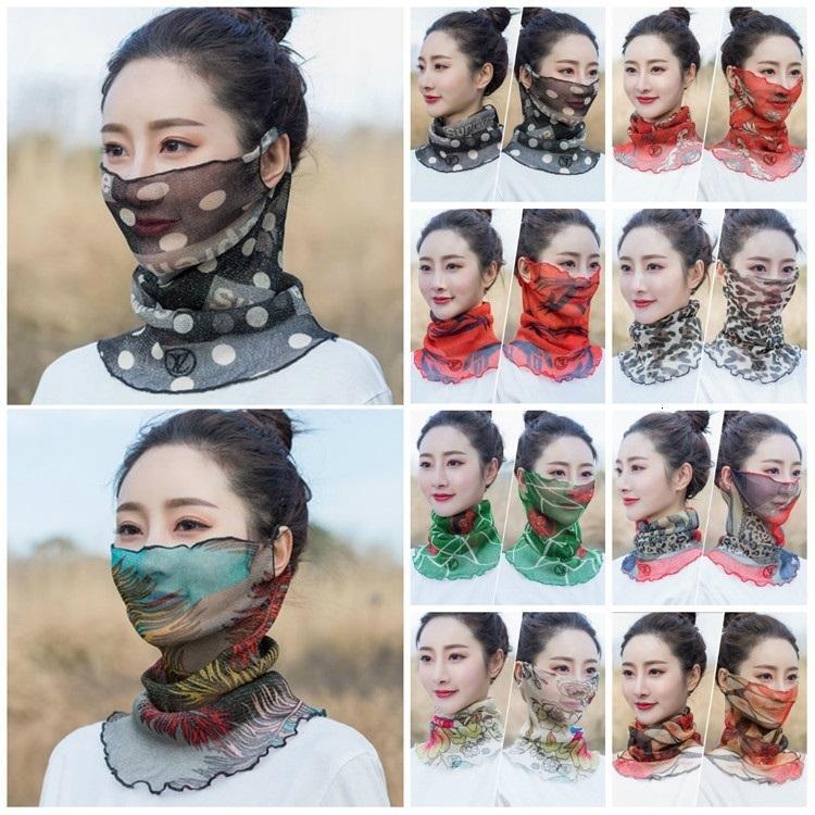Moda mulheres véu à prova de vento à prova de rosto ao ar livre poeira à prova de poeira lenço máscara de pó festa tipo festa t2i5899