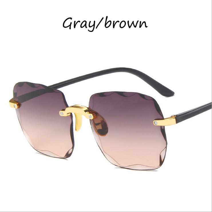 Gafas de sol para mujer Sin marco UV 2020 Protección Nueva EANLO