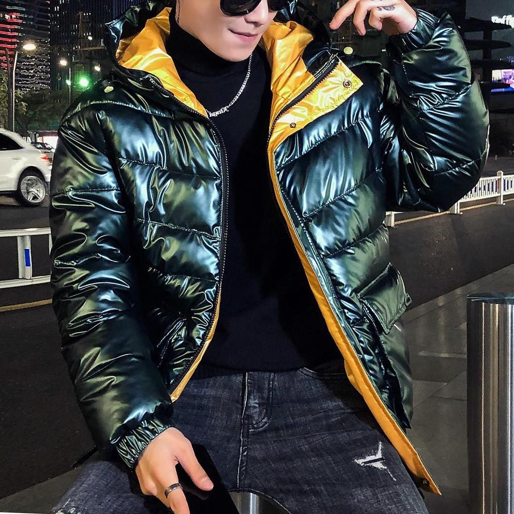 Blue Green Winter 2021 New Hooded Cotton Padded 5 Colors Jacket Men Clothes Men Clothing