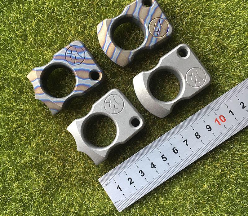 Andy Frankart SFK Single Finger Bague TC4 Titanium Self Defense Punch Daggers Boucle en plein air Survie Poche EDC Knuck Knuckles Multi outils