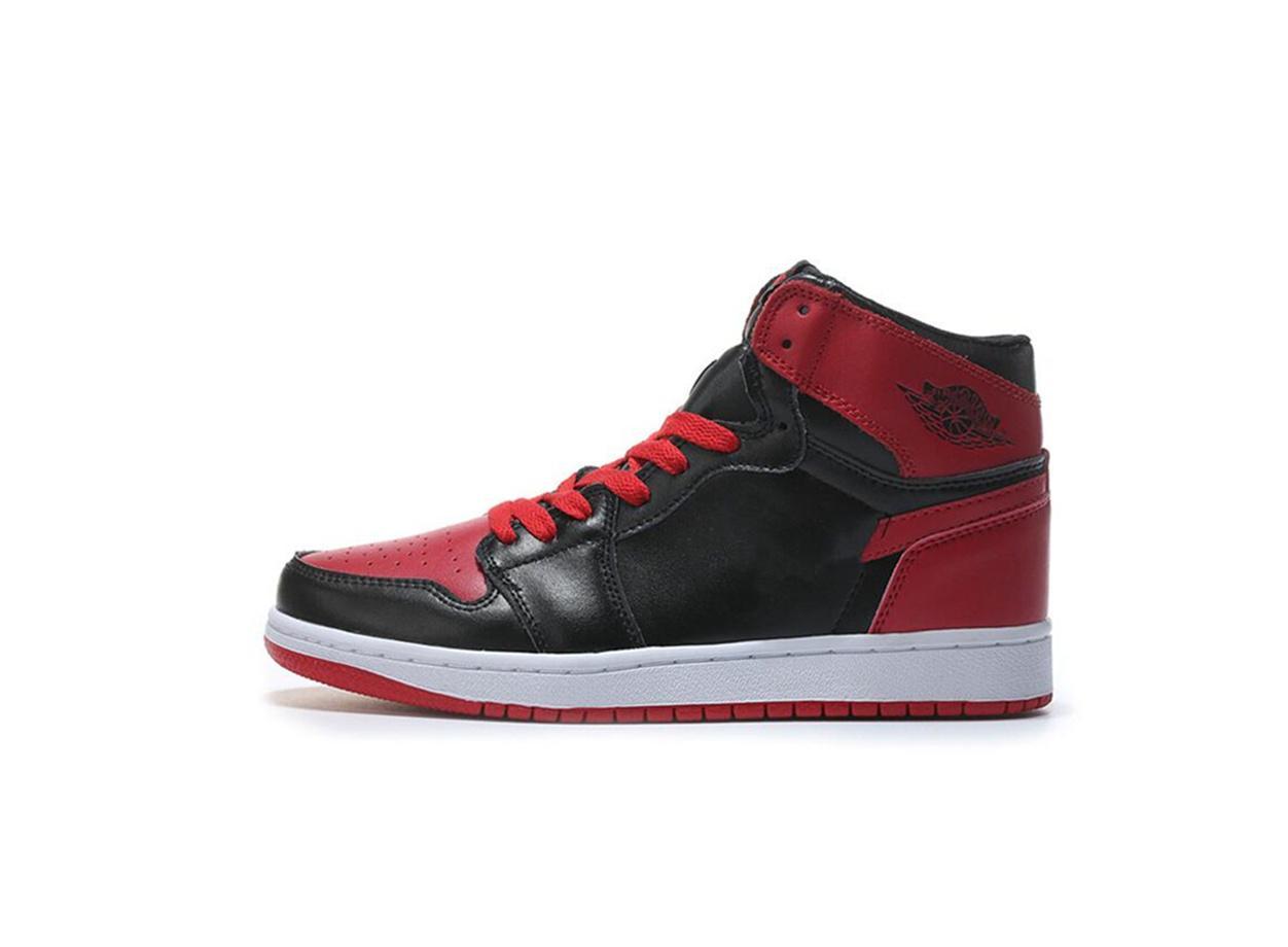 Orijinal Hava 1 OG Yasaklı Kadın Ayakkabı Ayakkabı Açık Deri Nefes Spor Sneakers G54