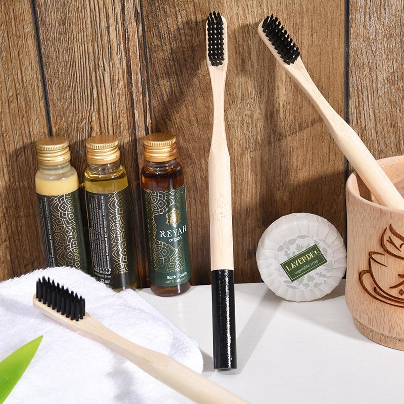 Одноразовые зубные щетки взрослые натуральные бамбуковые зубные щетки древесины мягкие щетинки натуральный эко бамбуковый волокна деревянная ручка зубная щетка