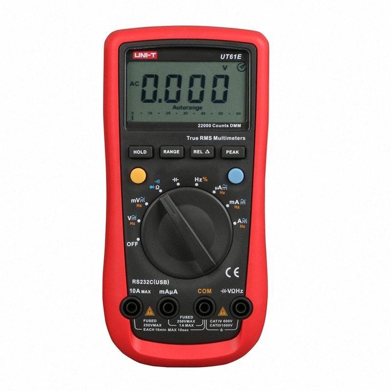 Удерживать UNI-T UT61E Высокая надежность Цифровой мультиметр Современный цифровой мультиметр AC DC Meter Data CD Multitester oKoq #