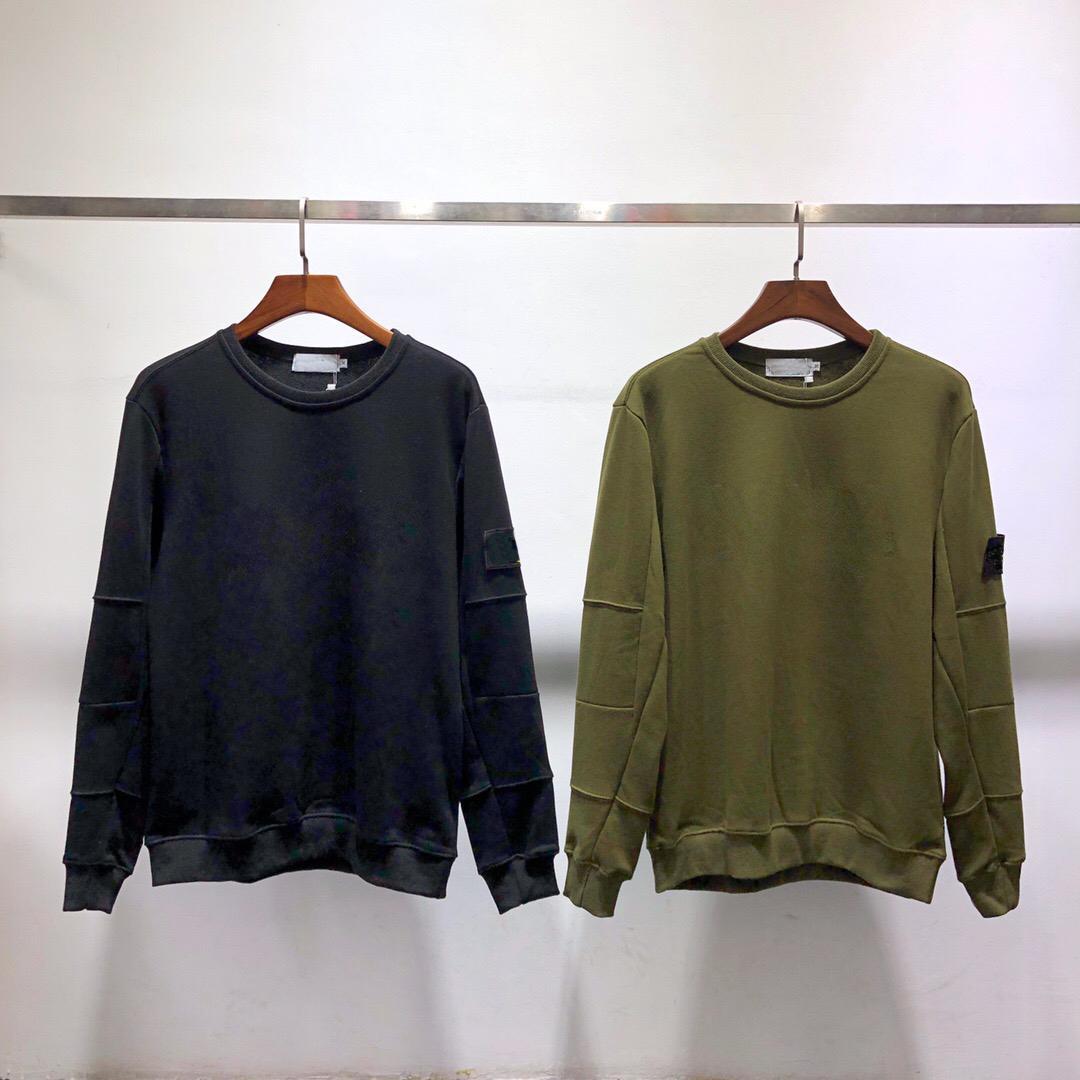 Mens Hoodie Sweatshirt 이탈리아 패션 가을 겨울 커플 긴 소매 까마귀 힙합 스웨터 스웨터 빛나는 인쇄 8103 S-2XL 4 색