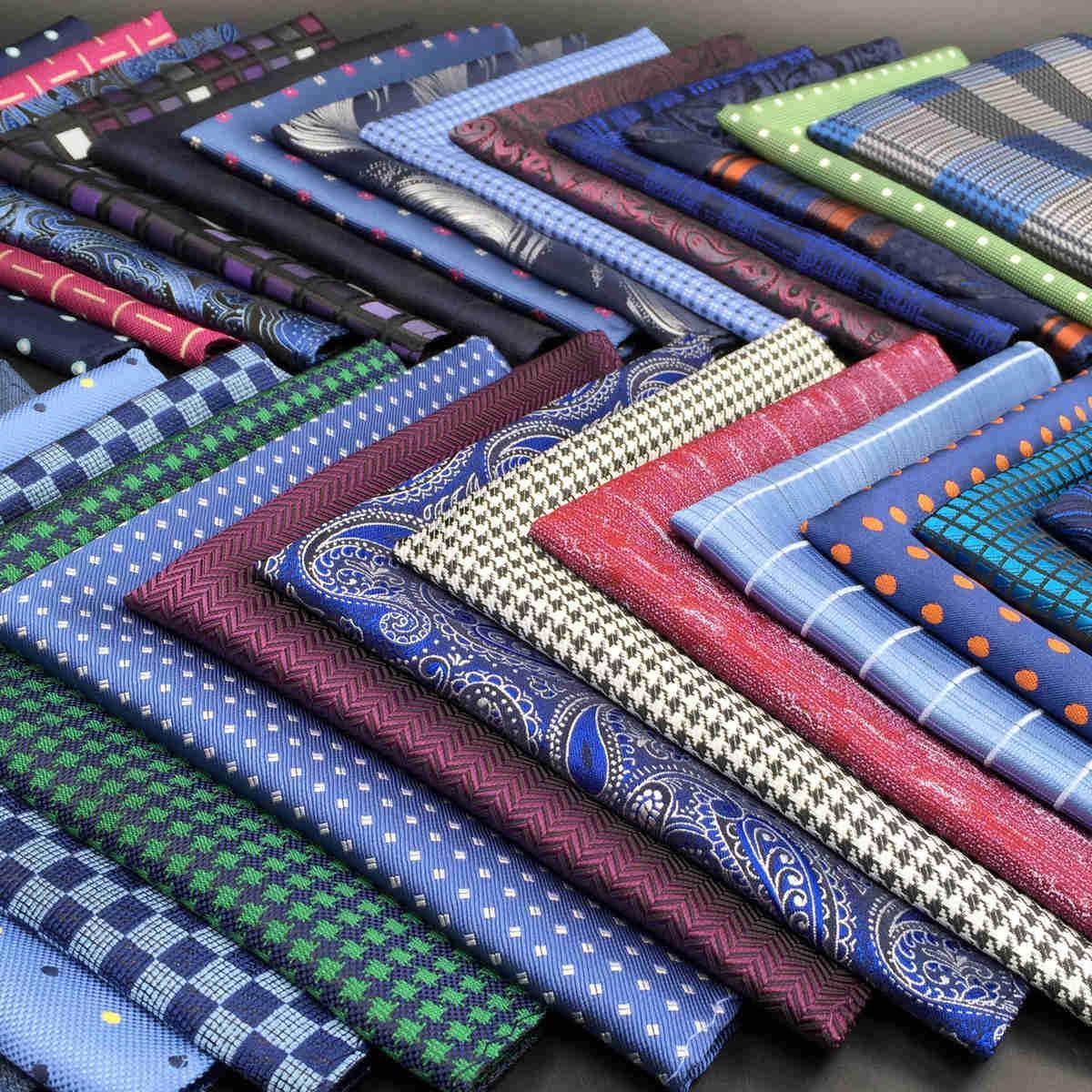 Blue Paisley Striped мужской карманный квадрат многоцветный шелковый модный платок свадьба свадьба свадьбы
