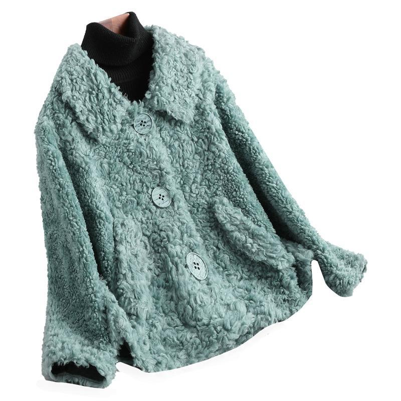 De alta calidad de 100% moda de las mujeres de la chaqueta 2020 de lana suave caliente de la capa de piel del cuero del ante de las mujeres abrigos Casacos Femenino Zjt340