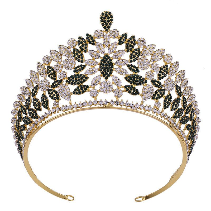 Vintage Baroque Rhinestone Wedding Crown Bridal Crowns and Tiaras Headbands for Queen Head Jewelry Hair Accessories Pageant