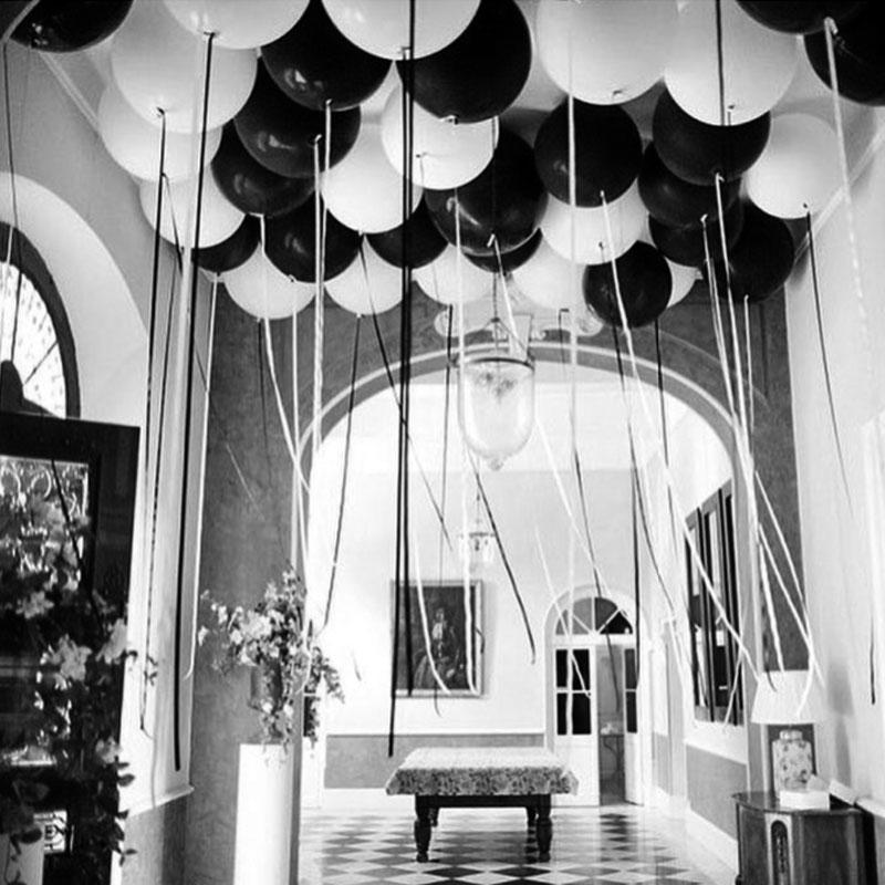 30 20 10pcs Black White Latex Balloons Birthday Party Wedding Decoration Inflatable Helium Balloon Kids Toys Baby Shower Ballon sqcqZw