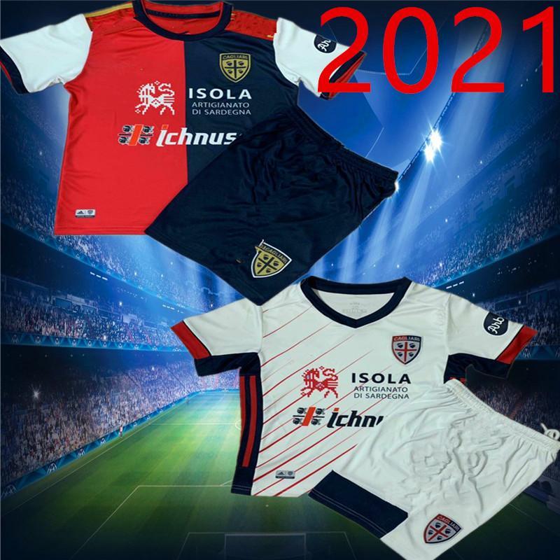 kids 20 21 Cagliari Calcio soccer jerseys Centenary Kit JOAO PEDRO limited edition NAINGGOLAN 2020 2021 jerseys from anniversary football sh