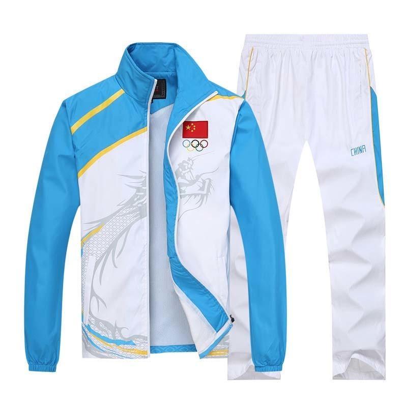 Licença porco homens esporte terno faixa de treino jogging sweatsuit jaqueta jaqueta pista calças corredores olympia sut swork time sportwear 201204