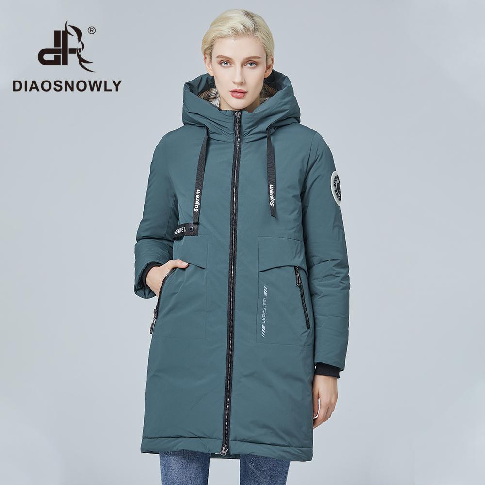 Diaosnowly moda parkas inverno mulher casaco quente da Mulher e feminino casaco à prova de vento roupas de inverno jaqueta mulheres 201015