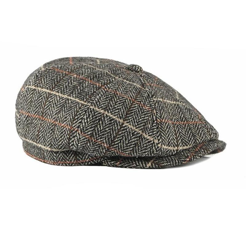 Peaky Blinders Erkekler Bereliler Şapka Sonbahar Yeni Vintage Balıksırtı Sekizgen Cap Kadınlar Casual Kabak Şapka Gatsby Düz Bereliler Şapka'S