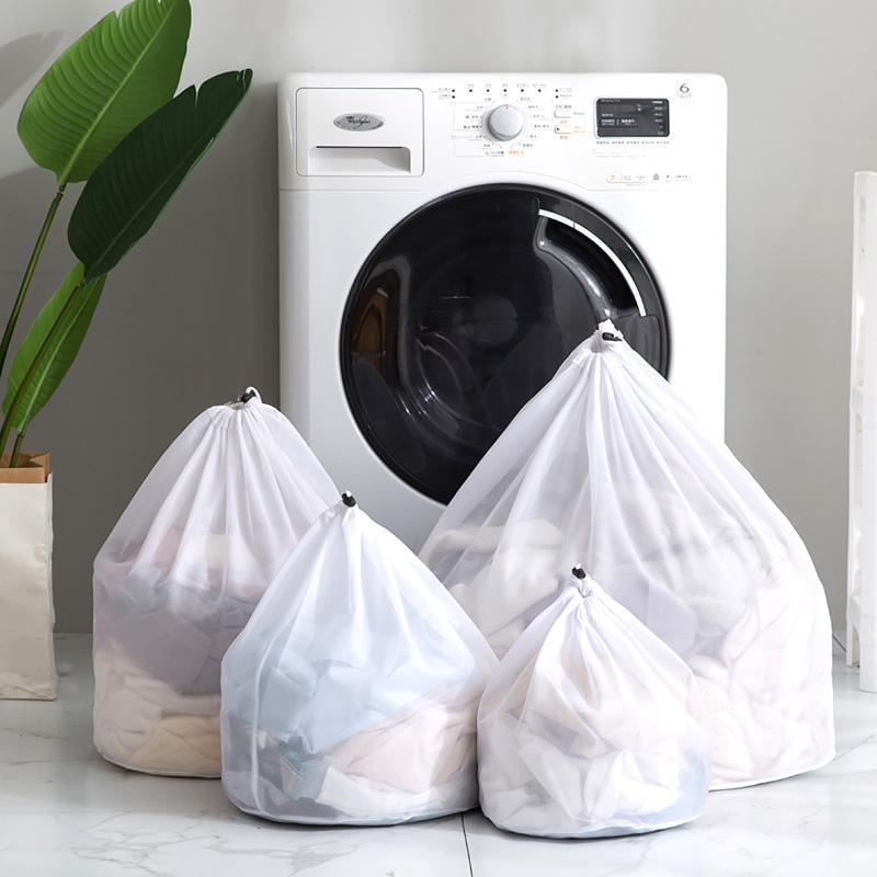 Sac coulissé lavage maille fine machine à laver Sac de protection spécial épaissie Mesh Grand