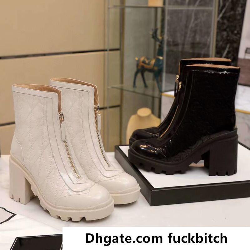 Designer outono inverno mulheres sapatos moda 100% botas de couro luxo martin botas sexy letra mulher sapatos de salto alto tamanho grande 35-41-42