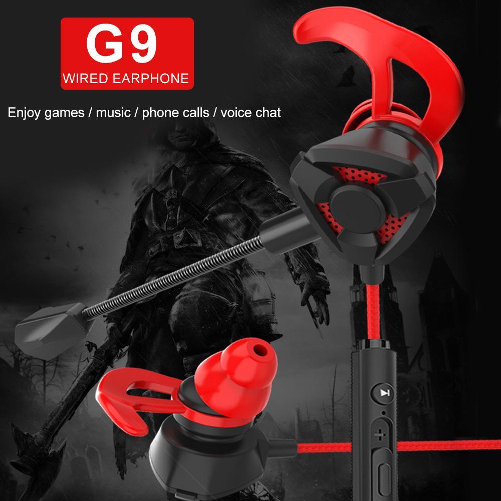 Universal G9 Écouteurs Wired Écouteurs Casque de jeu 3.5mm Jack Casque stéréo pour Pubg sans délai avec MIC pour ordinateur PS4