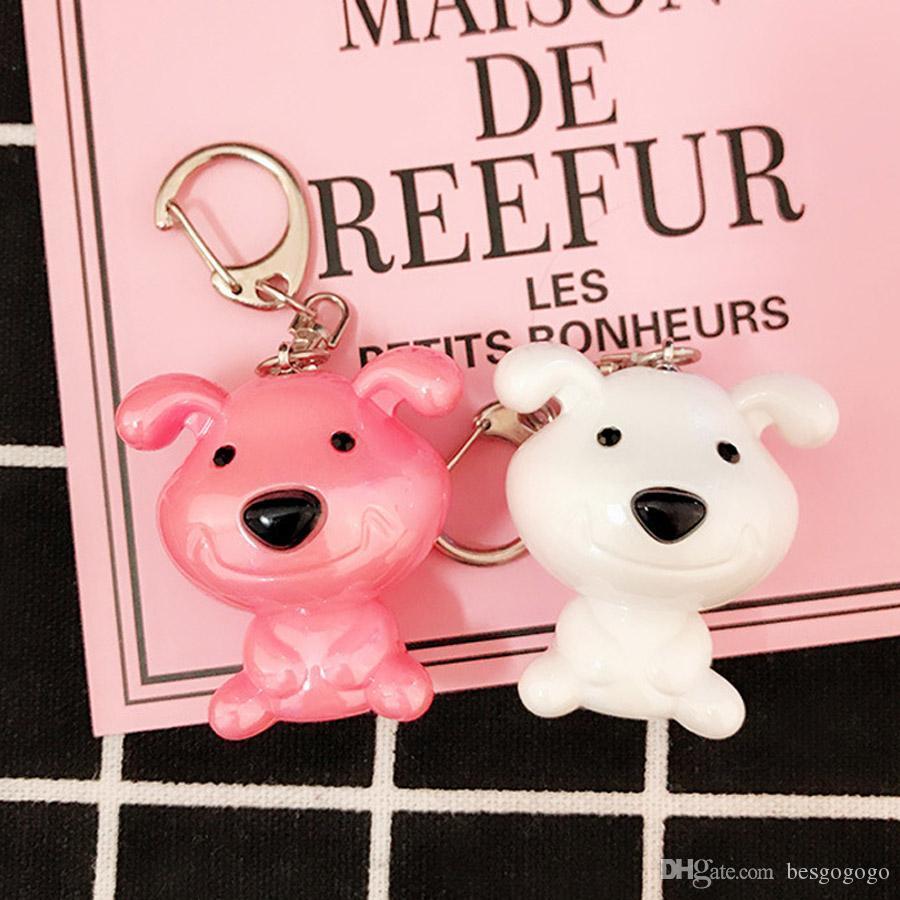 Promotion cadeau créatif en plastique Pet Keychain de chien Sac à dos Pendentif mignon mini dessin animé chien éléphant ours 3D Porte-clefs DH0936 T03