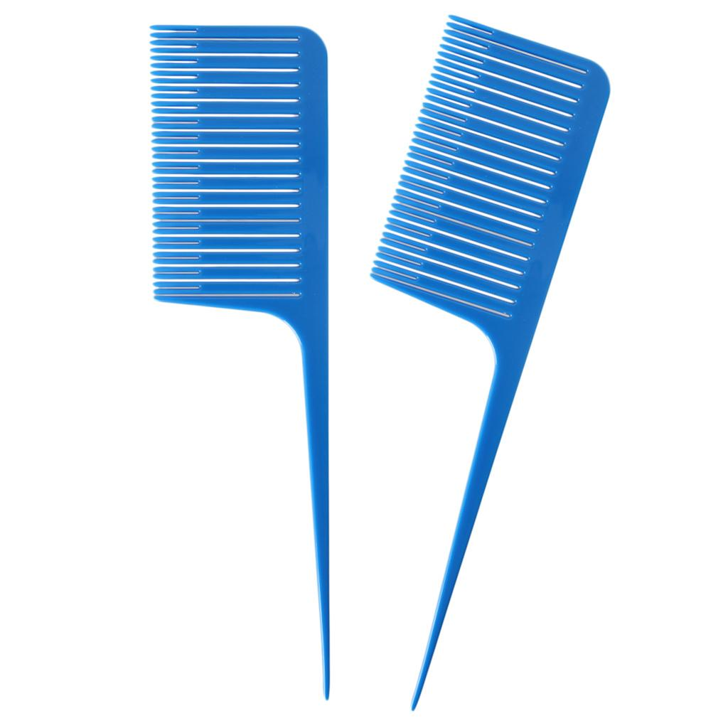 Profissional Tecelagem Realce Foiling Cabelo Combs azul 2 Pieces