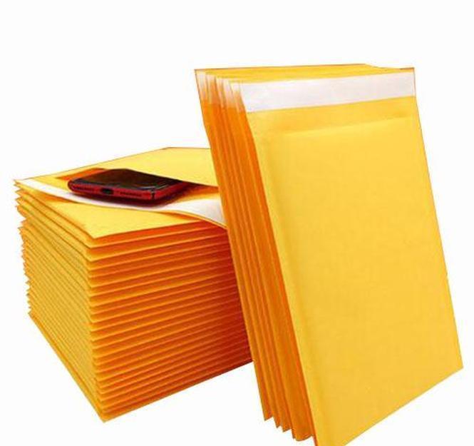 110 * 150mm Kraft Paper Bubble Enveloppes Sacs Sacs Enveloppe d'expédition rembourrée avec Bubble Mailing Sac Business Sup Jlleuk Yummy_shop