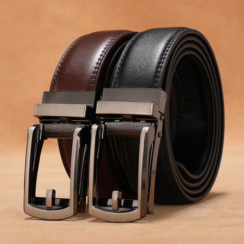 Cintura di fibbia automatica a cinghia da uomo in pelle da uomo in cinghia da uomo in pelle da uomo