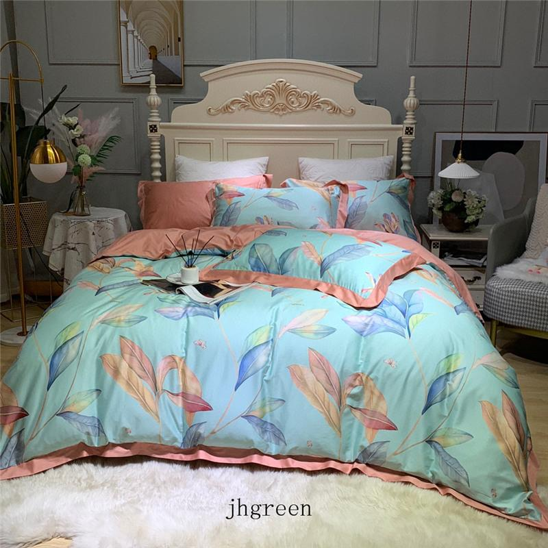 3D Schmetterling Blätter drucken Bettwäsche-Sets King Size Luxus Bettbezug Kopfkissenbezug Queen-Size-Bettbezug Comforters Sets Designs Bett