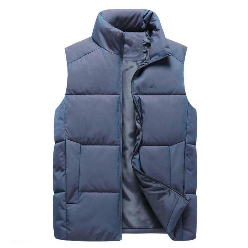 Hot algodão gola para baixo sem um chapéu MA3 jia3 coletes casacos sem manga Plus Size acolchoado coletes Homens coletes outerw best-seller 11