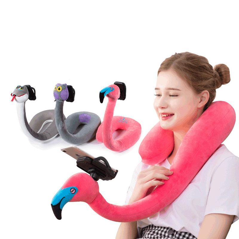 Phone Holder Pillow Lazy U-travesseiro forma Mobile Phone Suporte Cervical Multi-Function Halter Suporte cabeceira Neck