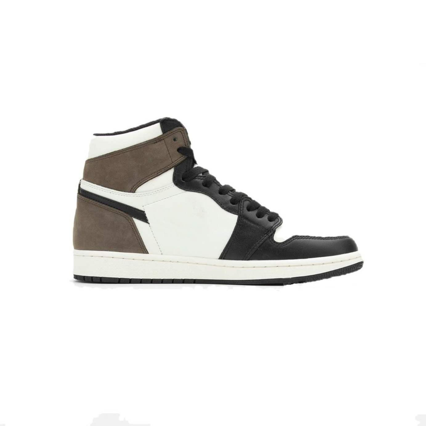 1 Dark Mocha 1s basketball shoes Genuine Leather TOP Factory Version mens trainer 2020 New Sneakers with Box