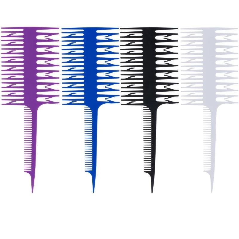 Tessuto di plastica professionale in tessitura di sola andata evidenziazione di Foiling Hairing pettine per capelli strumento per capelli colorante pettine sezione sezione evidenziazione pettine pennello