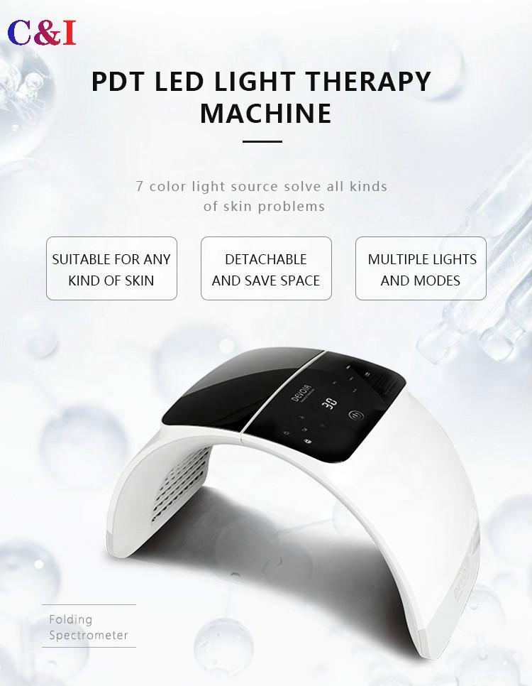 6 Renk Işık LED Yüz Maskesi PDT Terapi LED Işık Cilt Bakımı Gençleştirme Makinesi Akne Temizleme Anti-Kırışıklık Spa Salon Güzellik Ekipmanları