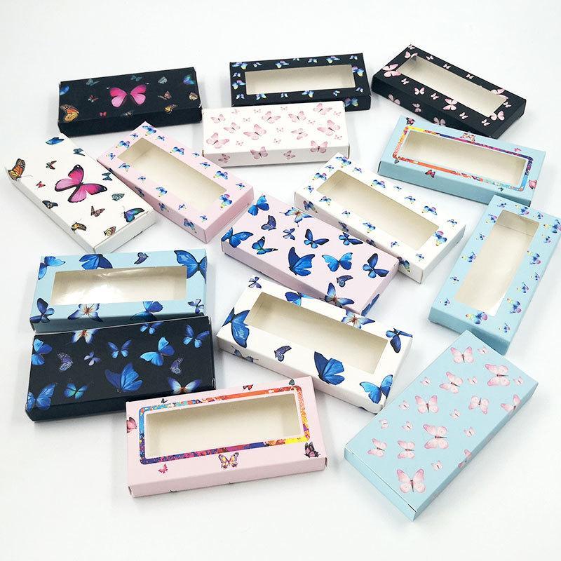 상자 빈 상자 속눈썹 패키지 케이스 밍크 래쉬 박스 사각형 속눈썹 상자 화장품 케이스는 저장 비우기 포장 도매 나비 속눈썹