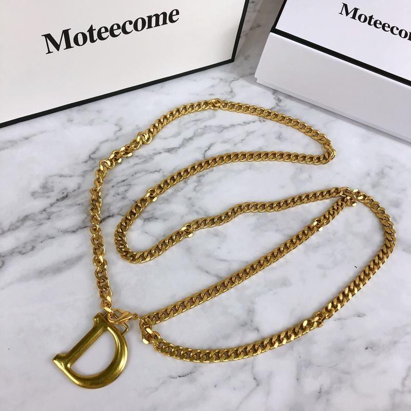 2020 ceinture de chaîne taille D lettre ceintures en métal d'or pour les femmes houppe ketting Riem femme robe ceinture ceinture cintos