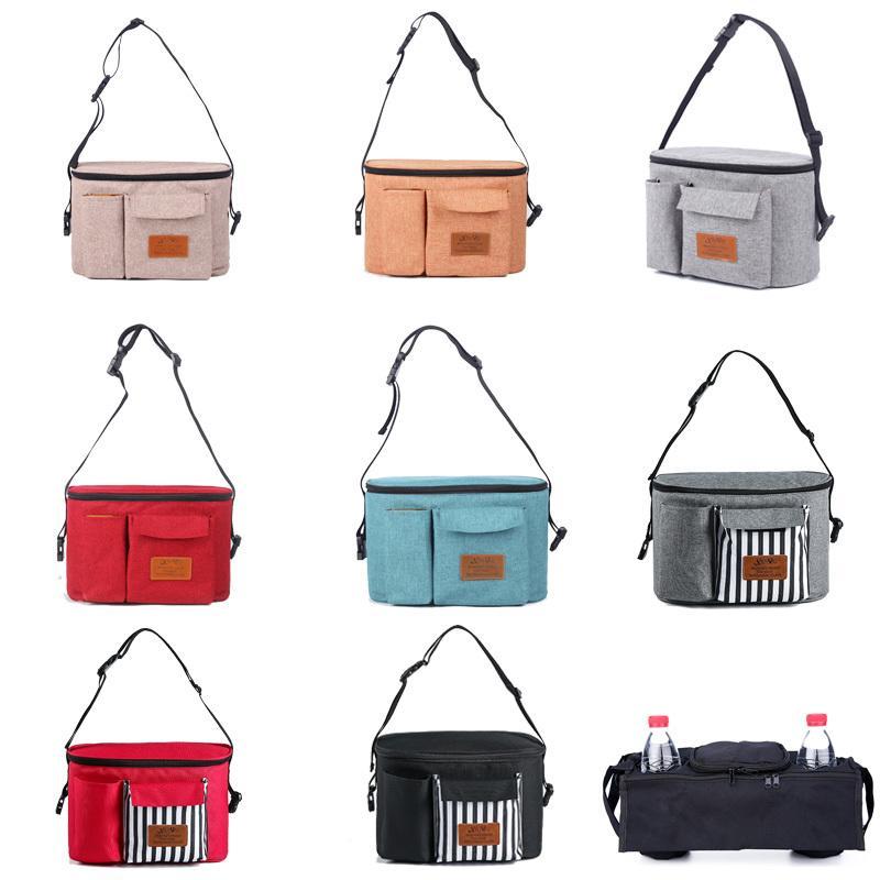 Diapers Large Capacity Baby Stroller Bag Waterproof Nappy Storage Pocket Portable OrganizerNursing Bags Q1230