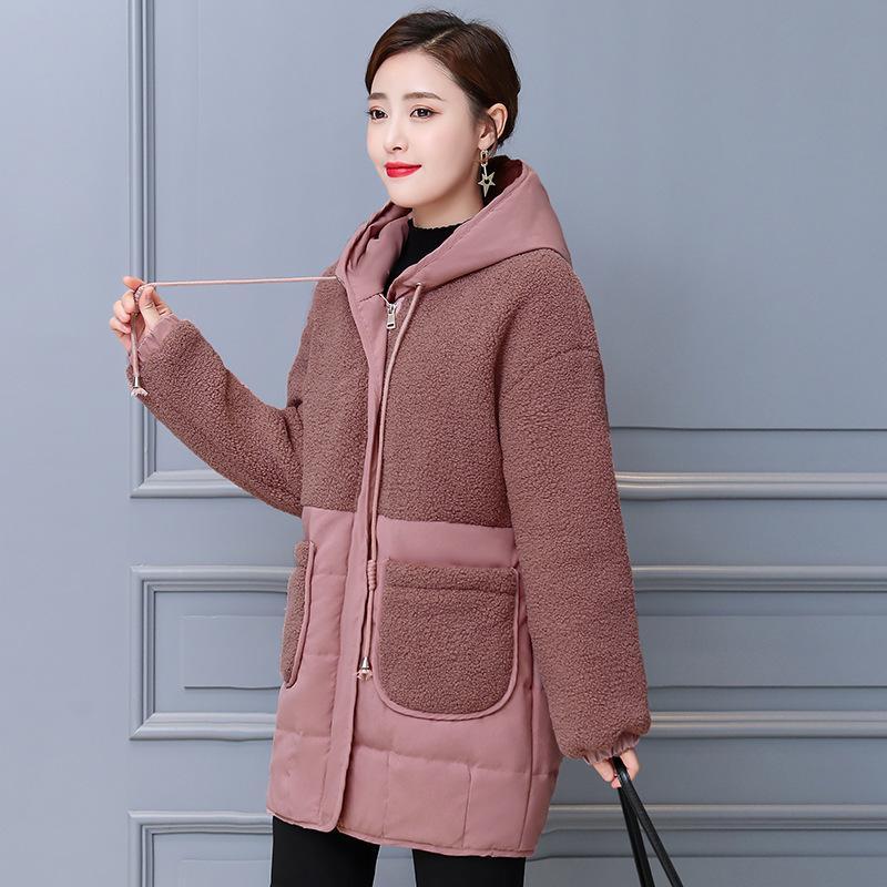 Пальто Иностранного стиля 50 Мать Даун Благородное Хлопок Мягкая Куртка Зимнее Платье Среднего возраста