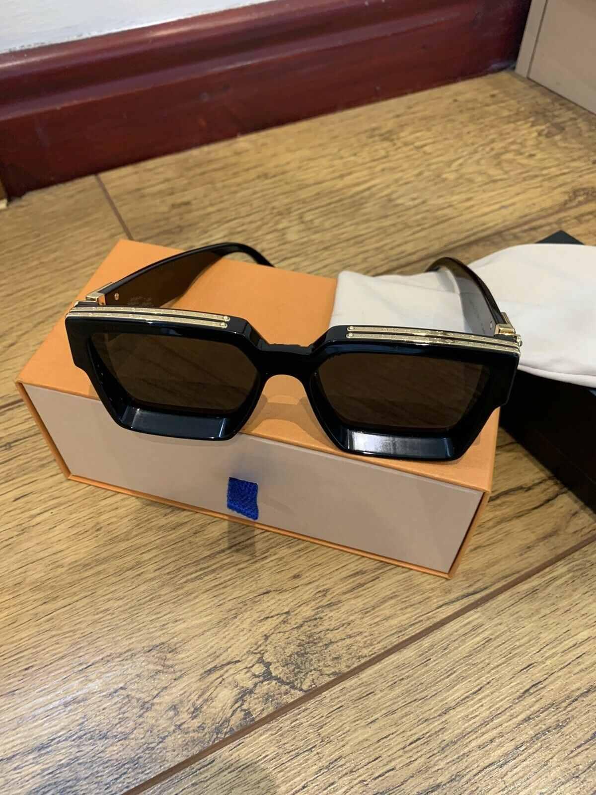 Luxus-MILLIONäR Sonnenbrille für Männer Full-Frame Vintage-Designer 1.1 Sonnenbrille Frauen MILLIONäR Schwarz-Logo 96006 Sun glas