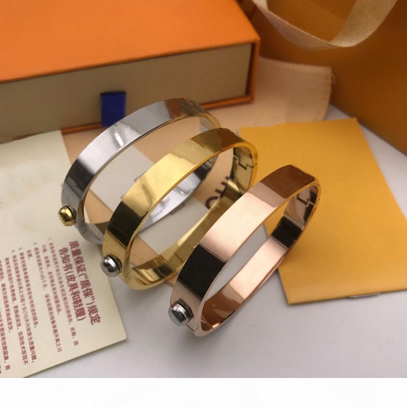 Tasarımcı Takı Bileklik Gül Altın Gümüş Paslanmaz Çelik Lüks Basit Çapraz Desen Toka Aşk Takı Kadın Erkek Bilezik Marka Arabası