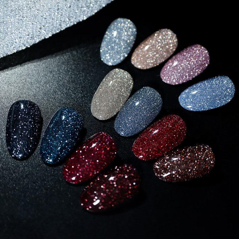 Gel de uñas 12 colores Polaco Rainbow Neon Barnices híbridos para uñas Conjunto de manicura Decoración Necesita Base Top Coat UV LED