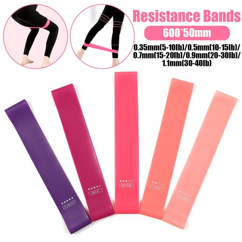 Bande Gum 5pcs Formazione Fitness Palestra Forza Resistenza Band Pilates Sport gomma Fitness Pull Up Workout attrezzature