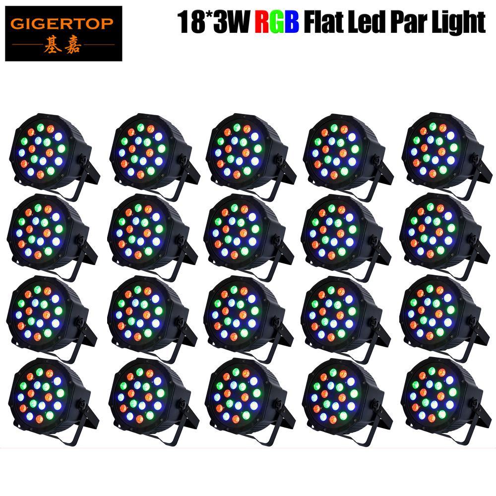 Freeshipping 20pcs/lot 18x3W Led Par Cans Light RGB Tri Color Stage Lighting Effect 54W Certification CE disco/dj light star