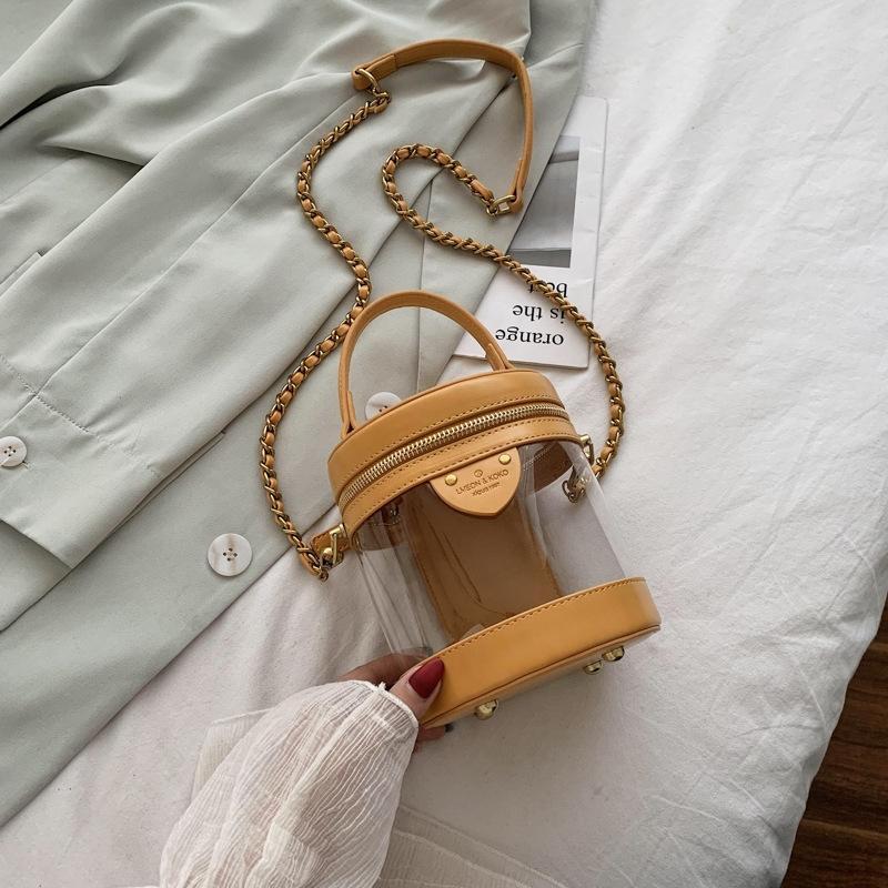 Lazer bagshoulder bagwomen casuais 2020 nova verão coreano versátil Bolsa de Ombro Moda estilo estrangeira saco transparente geléia Rhmjh