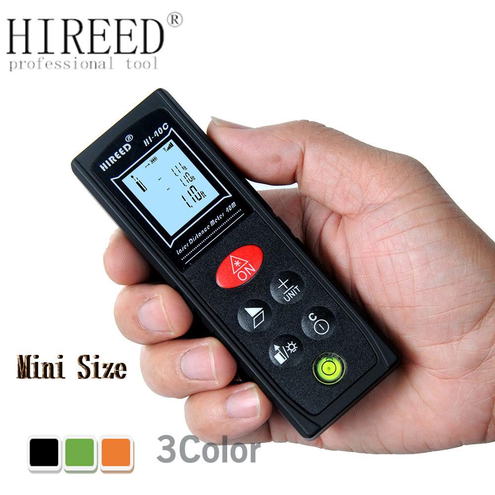 Hireee mini الليزر المسافة متر 40 متر 60 متر الليزر rangefinder الليزر الشريط الليزر المدى مكتشف حاكم تسيارات قياس الروليت مربع المحبط T200603