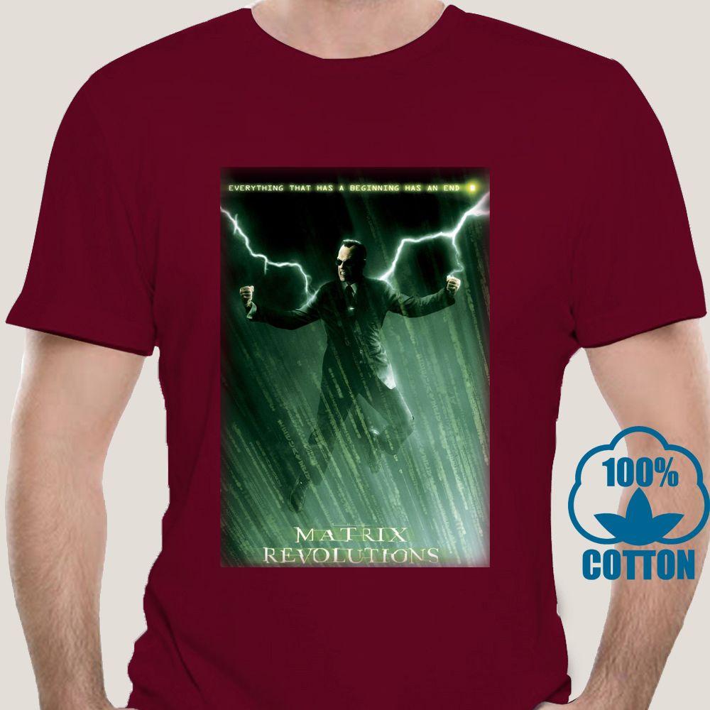 2516A Matrix Revolutions-Film-Plakat-T-Shirt Hip Hop-T-Shirts Sexy Mädchen Shirts Schwarz von Weiß-T-Shirts Sport T-Shirt Hoodie