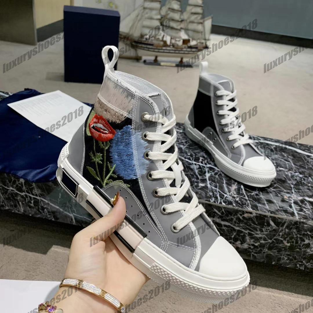 ارتفاع أعلى أحذية عارضة حذاء رياضة إمرأة رجل الديناصور رسالة الكتابة على الجدران التطريز قماش الفني أحذية المدربين منصة حذاء 35-46