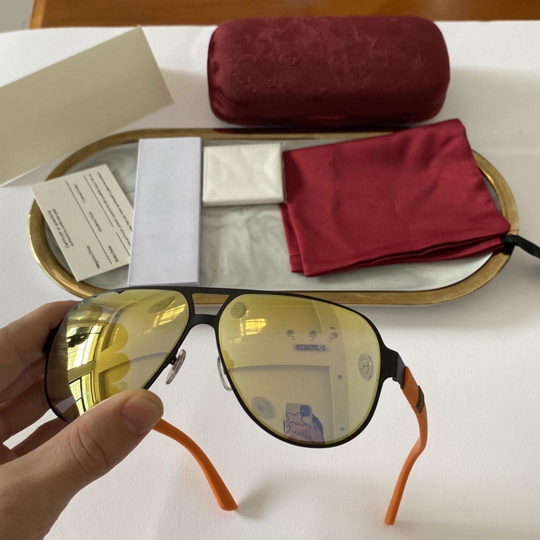 2021 New Luxur Top Quality Classic Pilot Sonnenbrille Designer Marke Mode Herren Womens Sonnenbrille Brillen Metall Glaslinsen mit Kiste 2252