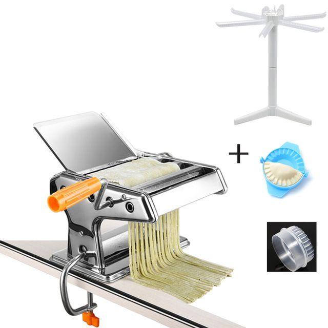 Aço inoxidável frete grátis Manual de Pasta Criador Noodle faz a máquina vegetal Noodle Criador Machine Tool